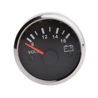 2  52mm 8~16V Car Volt Voltage Meter Gauge Voltmeter RED Light Digital • 9.83£