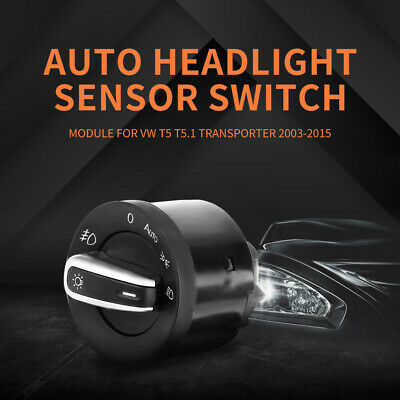 Auto Headlight Fog Light Switch Upgrade For VW T5 T5.1 Transporter 2003-2015 • 42.79£