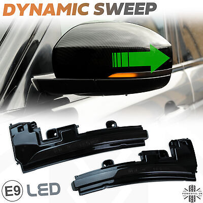 Dynamic LED Indicators Smoked For Range Rover L405 Side Wing Mirror Light Lamp • 80£