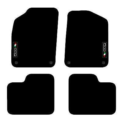 Fiat 500 2012+ Onwards Tailored Carpet Car Floor Mats With Logo 4 Clips • 19.99£
