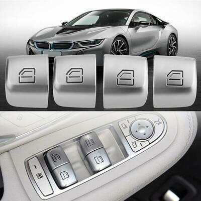 4pcs/set Master Window Switch Repair Button Caps For Mercedes Benz C Class W205 • 23.99£