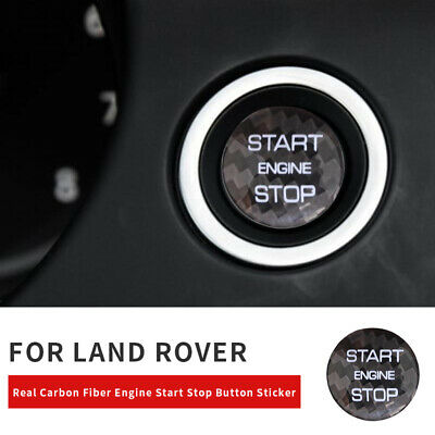 Carbon Engine Start Stop Button Switch Sticker For Land Rover Discovery Evoque • 9.99£