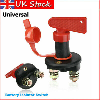 UK Universal 12V Battery Isolator Switch Cut Off Kill Switch Car Boat Van Truck • 4.99£