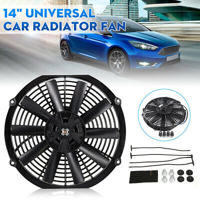 14  Inch Universal Slim Electric Radiator Cooling Fan Push Pull 12V 80W Mounting • 17.94£