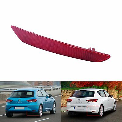 Right Side Rear Bumper Reflector Red Lens No Light  Seat Leon Stylance 2013-2019 • 12.90£