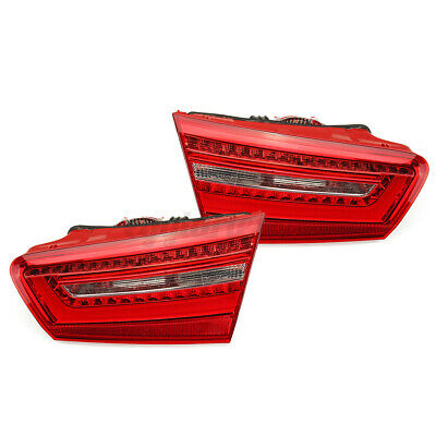 Pair Rear Left&Right Inner Tail Lights Lamps Red LED For Audi A6 C7 2010-2016  • 146.99£
