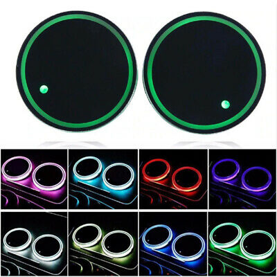 LED Car Cup Bottle Holder Pad Mat  Mat For Auto Interior Atmosphere Lights Decor • 4.59£
