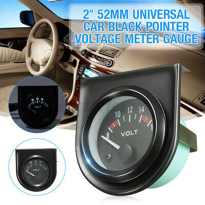 2'' 52mm Universal Car Black Pointer Voltage Meter Gauge 8-16V White LED Light • 8.59£