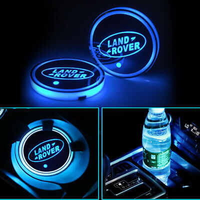 LED Cup Holder Lamp Land Rover Defender Discovery USB Interior Atmosphere Lights • 10.97£