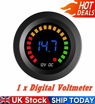 1* Waterproof 12V LED Car Van Boat Marine Voltmeter Voltage Meter Battery Gauge • 13.29£